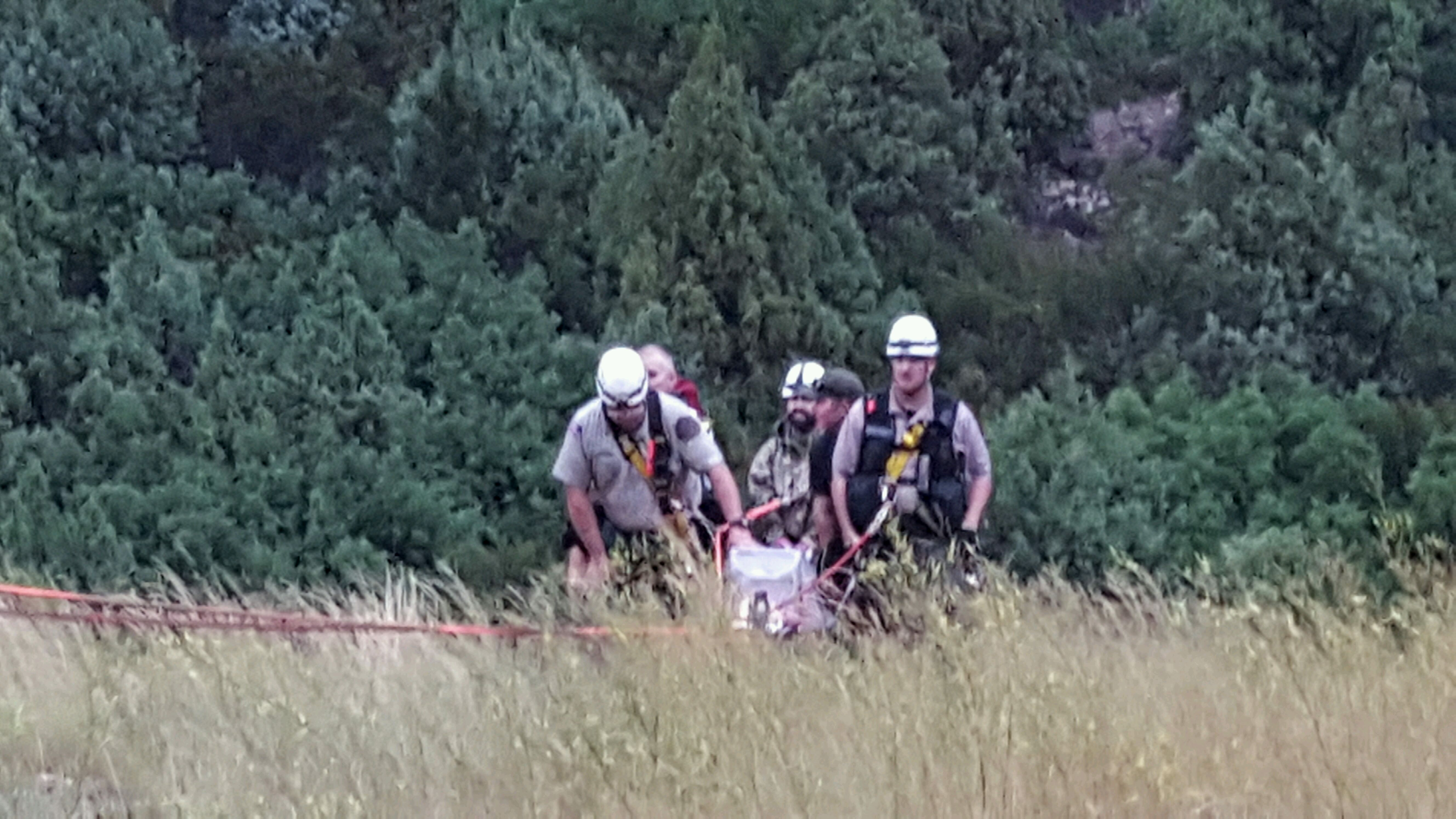 Iron County Sheriff's Ropes Team work to bring hiker to safety Wednesday night. Cedar Canyon, Aug. 3, 2016 | Photo courtesy of Iron County Sheriff's Office, St. George/Cedar City News
