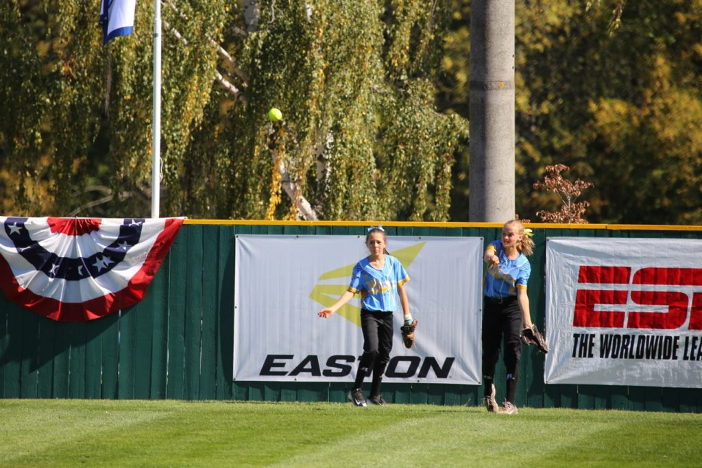 Anyssa Montano (right) and McKenna Staheli, Little League Softball World Series, Portland, Ore., Aug. 15, 2016. | Photo by Scott Miller, special to St. George News