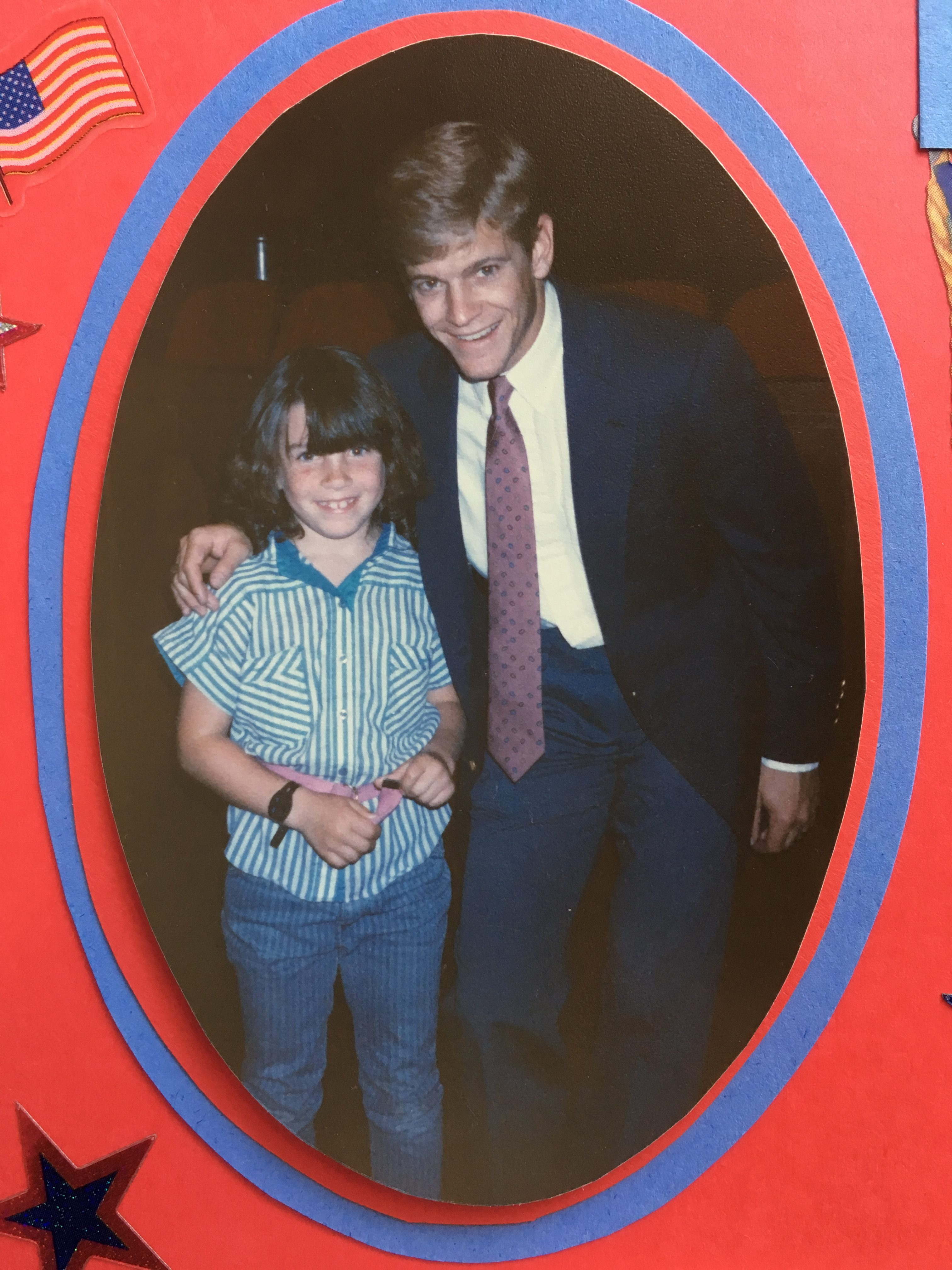 Kat, age 8, with 1984 Olympic Gold Medal Gymnast Peter Vidmar. Santa Barbara, California. 1985 | Photo courtesy of Kat Dayton, St. George News