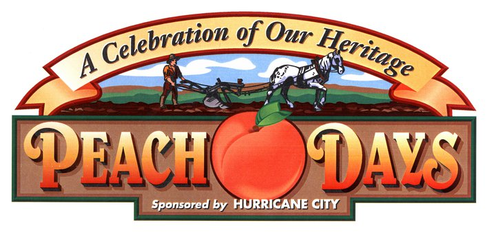 "Hurricane City ""Peach Days"" logo 