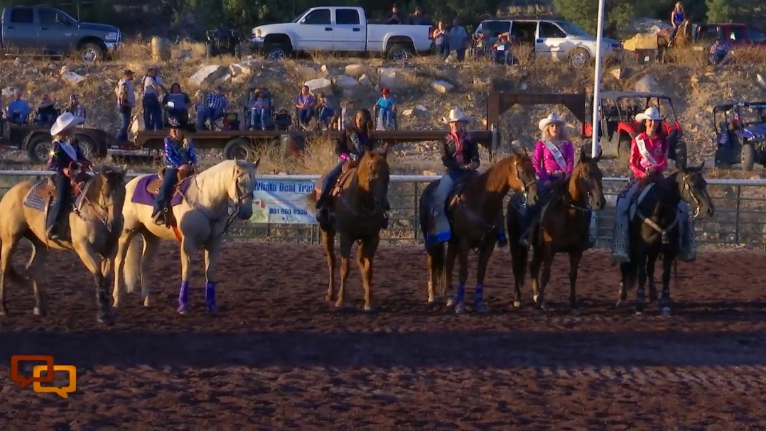 Rodeo gals and royalty sparkled at the all new Veyo Rodeo Arena Friday night. Veyo Rodeo, Veyo, Utah, Aug. 5, 2016 | Photo by Sheldon Demke, St. George News