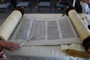 Torah scroll presented during dedication ceremony Saturday, St. George, Utah, Aug. 6, 2016   Photo by Cody Blowers, St. George News
