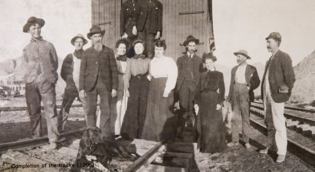 Townsfolk of Caliente, Nevada, date not specified | Photo courtesy of Lincoln County Nevada Historical Association, St. George News
