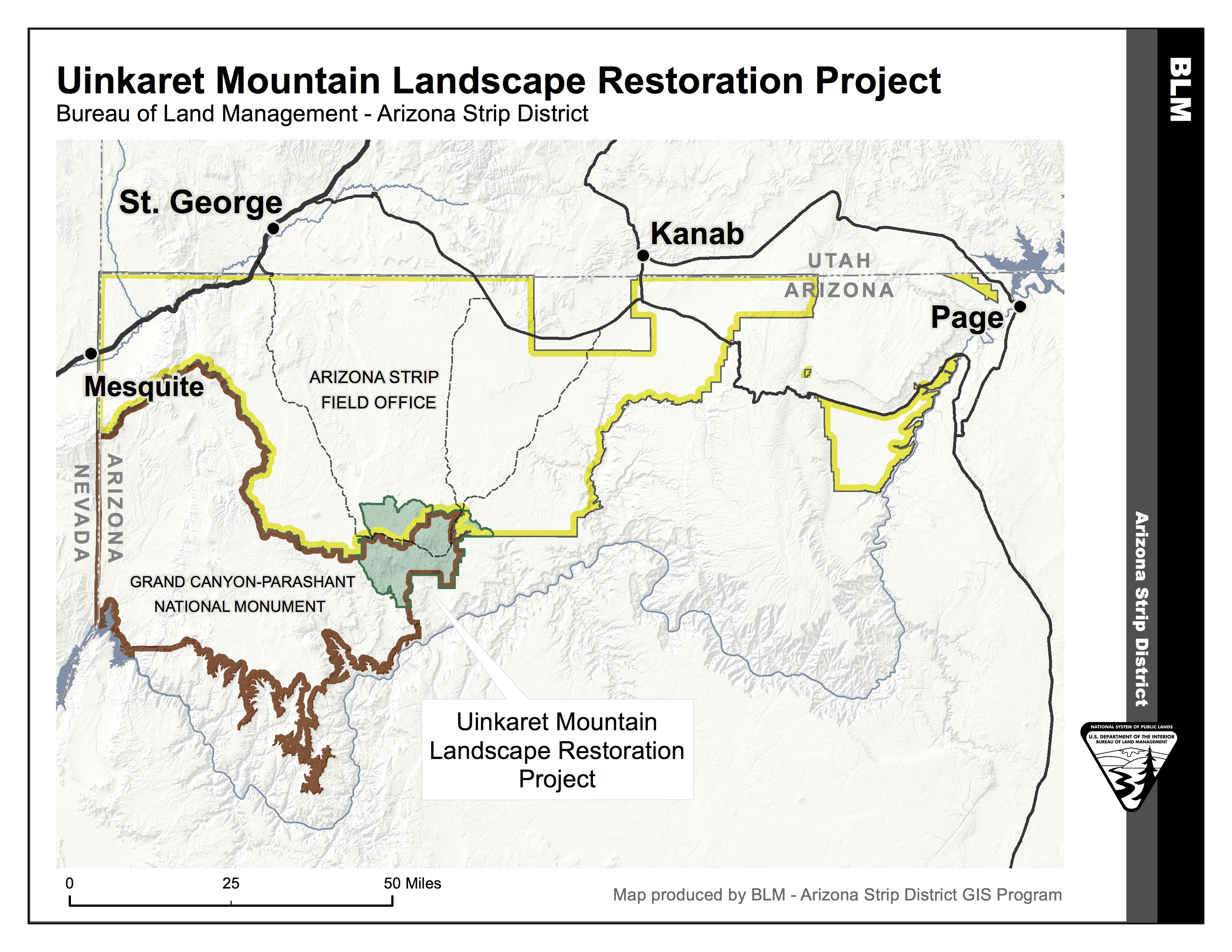Map courtesy of BLM Arizona Strip District | Click to enlarge