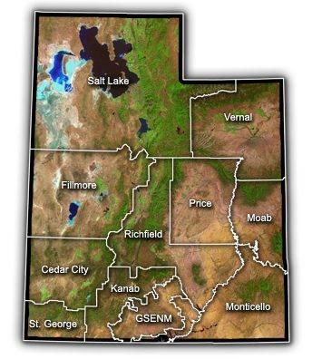 Bureau of Land Management's field offices throughout the state of Utah, image courtesy of BLM   St. George News