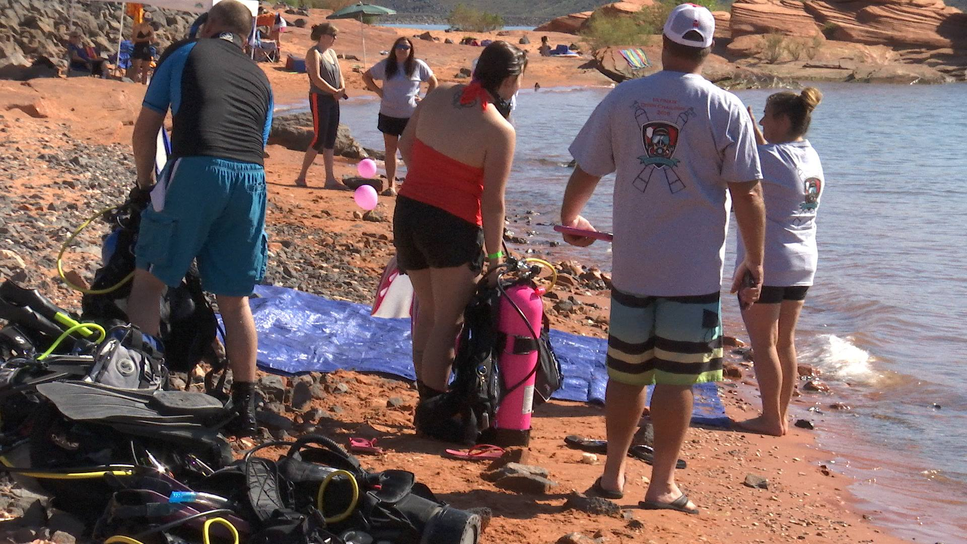 Ultimate Diver Challenge held at Sand Hollow State Park, Saturday, Hurricane, Utah, Aug. 13, 2016   Photo by Sheldon Demke, St. George News
