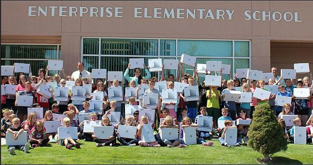 Enterprise Elementary School used its 2014-2015 School LAND Trust Funds to help purchase Chromebooks for their students, photo undated | Photo courtesy of SITLA, St. George News