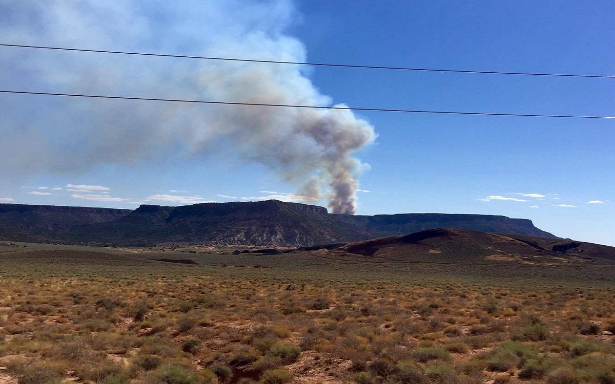 Little Creek Fire burns into Sunday night near Little Creek Mesa, Washington County, Utah, Aug. 13, 2016 | Photo courtesy of Cathy Eberhart Barber, St. George News