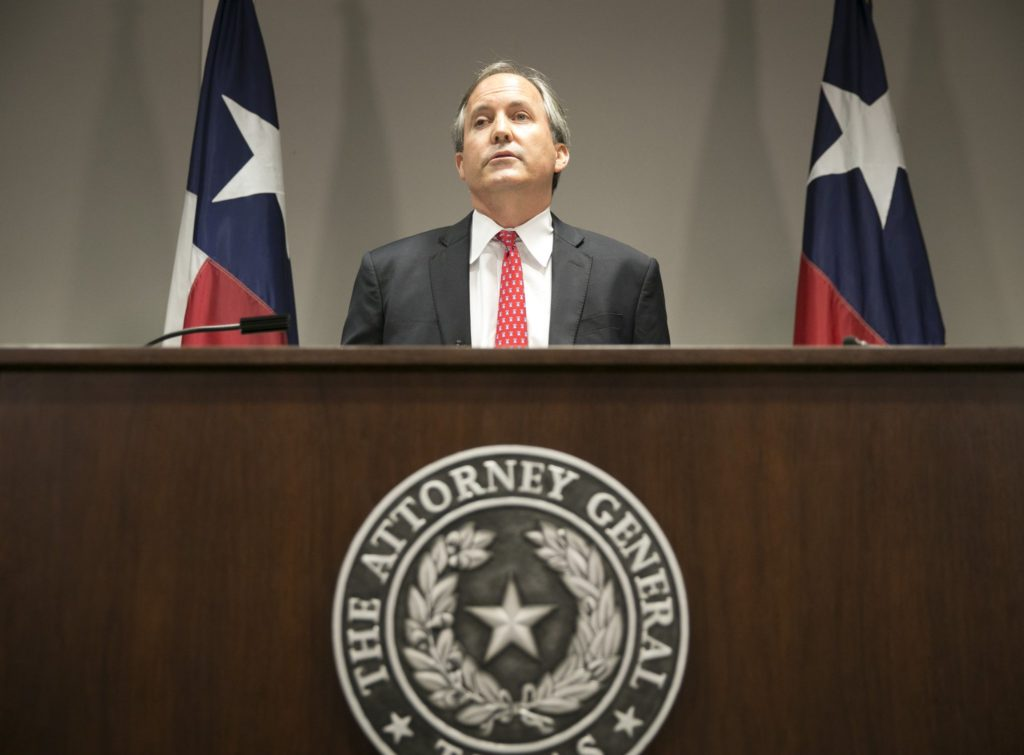 FILE - In this May 25, 2016, file photo, Republican Texas Attorney General Ken Paxton announces Texas' lawsuit to challenge President Obama's transgender bathroom order during a news conference in Austin, Texas. A federal judge in Texas is blocking for now the Obama administration's directive to U.S. public schools that transgender students must be allowed to use the bathrooms and locker rooms consistent with their chosen gender identity. Paxton had argued that halting the law before school began was necessary because districts risked losing federal education dollars if they didn't comply. | Photo by Jay Janner/Austin American-Statesman via AP; St. George News