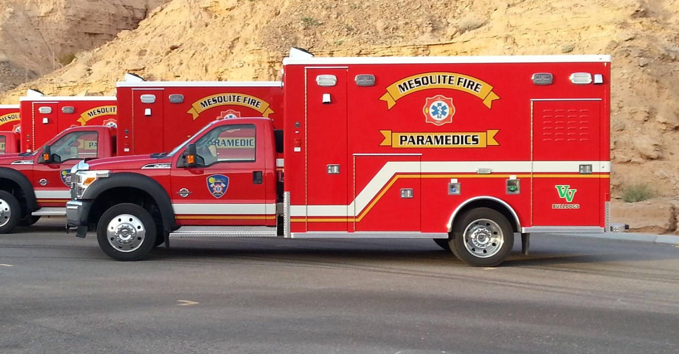 Mesquite Fire Rescue ambulance, Mesquite, Nevada, June 16, 2016 | Photo courtesy of Mesquite Fire Rescue, St. George News