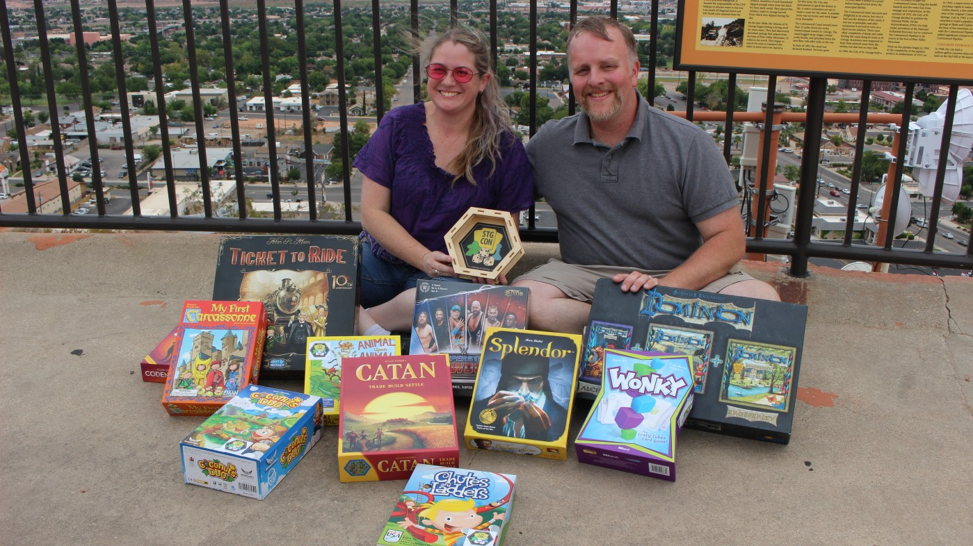 Alex and Shaea Bernard, founders of the St. George Board Game Convention, St. George, Utah, Circa August 2015 | Photo courtesy of the St. George Board Game Convention, St. George News