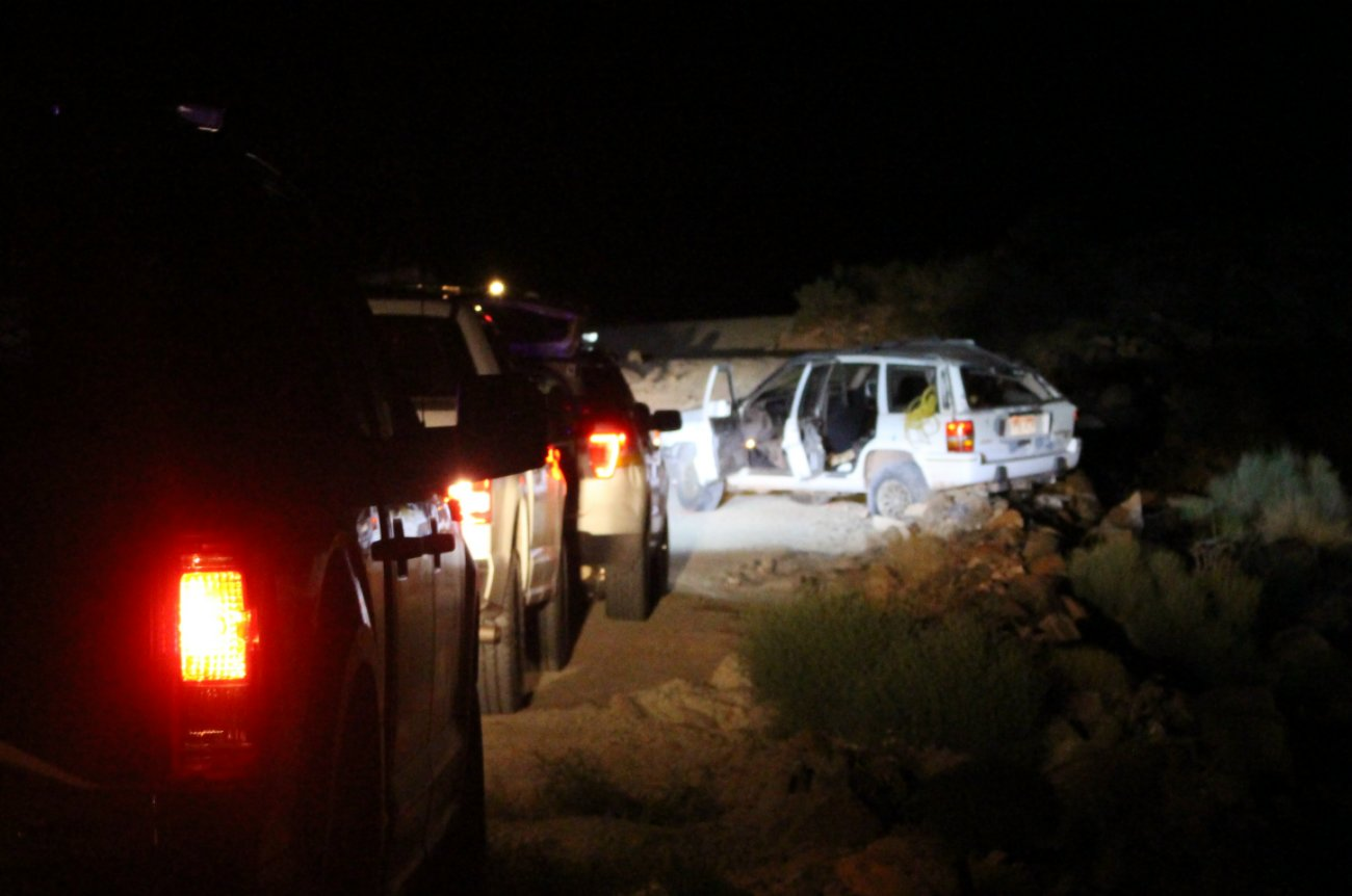 A woman was transported to the hospital in serious condition following a rollover on the Turkey Farm Road in the Red Cliffs Desert Reserve. The Washington County Sheriff's Office confirmed the woman was not wearing a seatbelt and was ejected from the SUV as it rolled, Washington County, Utah, Aug. 25, 2016 | Photo by Mori Kessler, St. George News