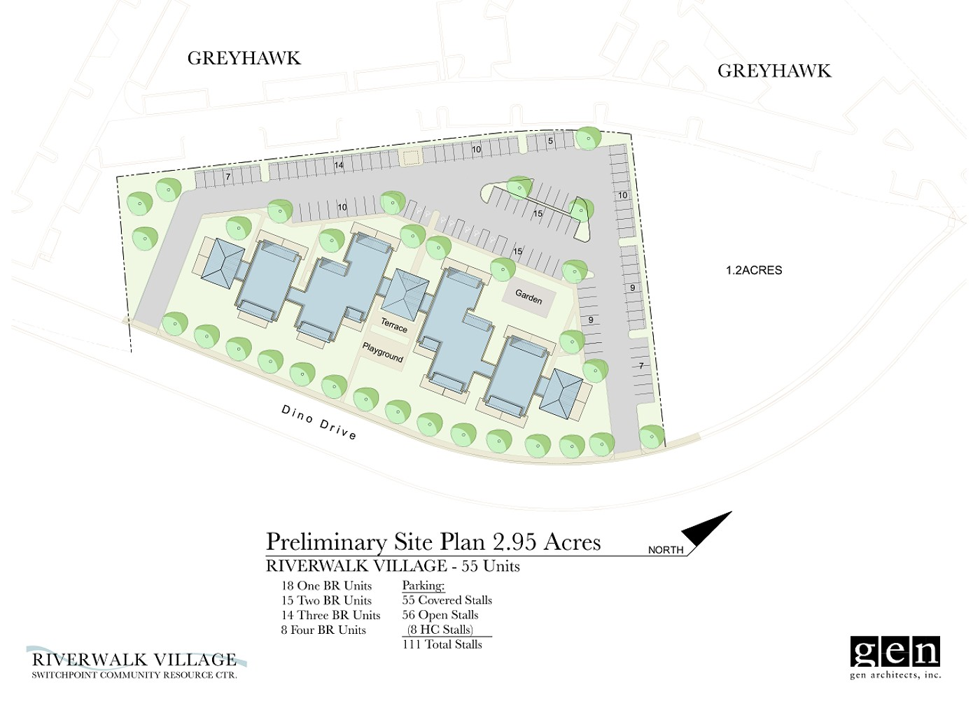 A rendering of site plan of the RIverWalk Village | Image courtesy of GEN Architecture, St. George News