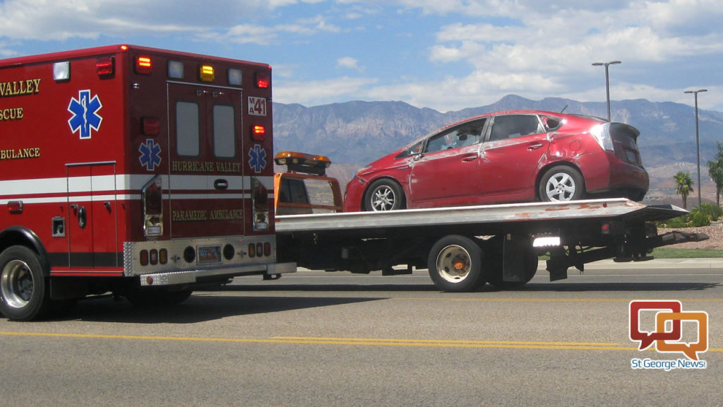 Prius Slides On Its Side After Suv Pulls In Front Of It