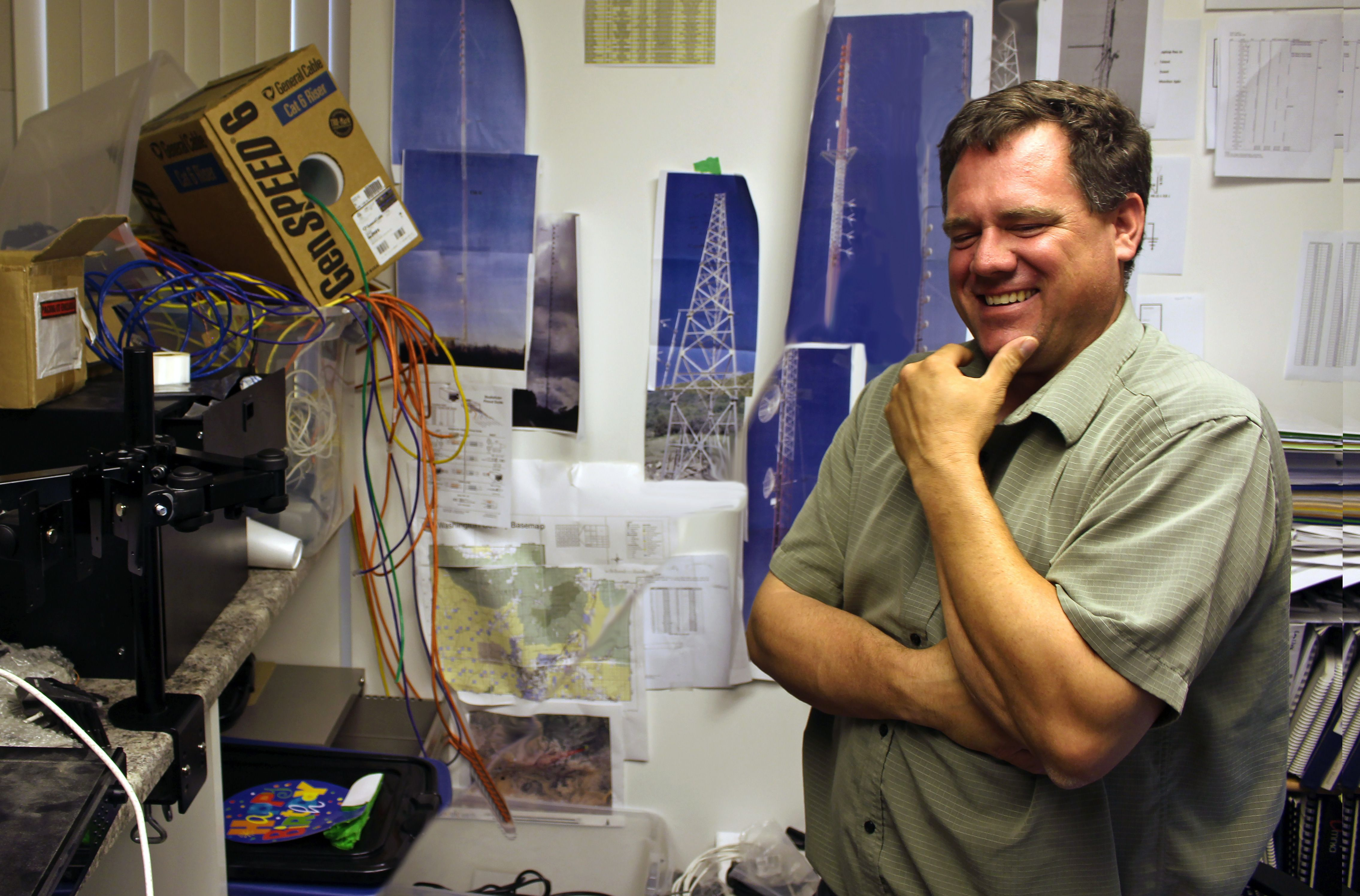 Canyon Media Chief Engineer Kelton Lloyd in his office, St. George, Utah, Aug. 3, 2016 | Photo by Ric Wayman, St. George News