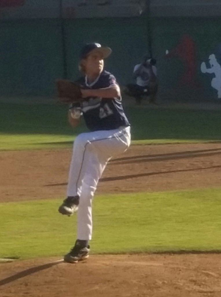 Cam Terry got the win for Snow Canyon at the West Regional of the Little League World Series Aug. 9, 2016, in San Bernardino, Calif. | Photo by Dennis Pope, special to St. George News