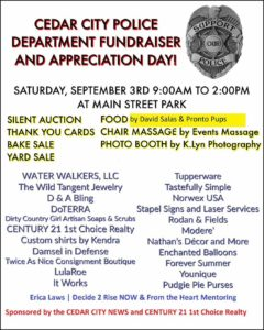 Flyer for police fundraiser