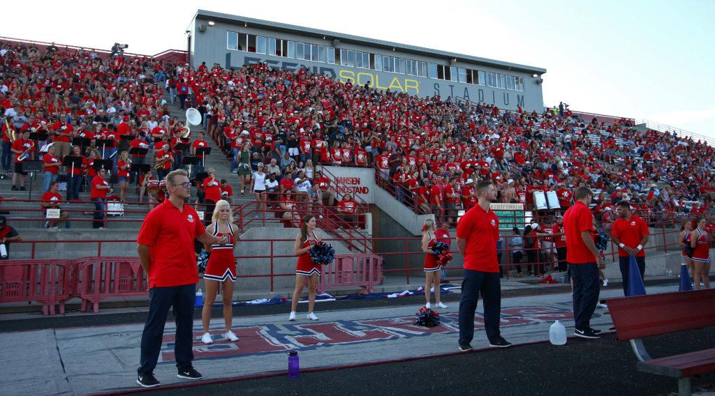 Dixie State University vs. New Mexico Highlands University, Football, St. George, Utah, Sept. 1, 2016,   Photo by Robert Hoppie, ASPpix.com, St. George News