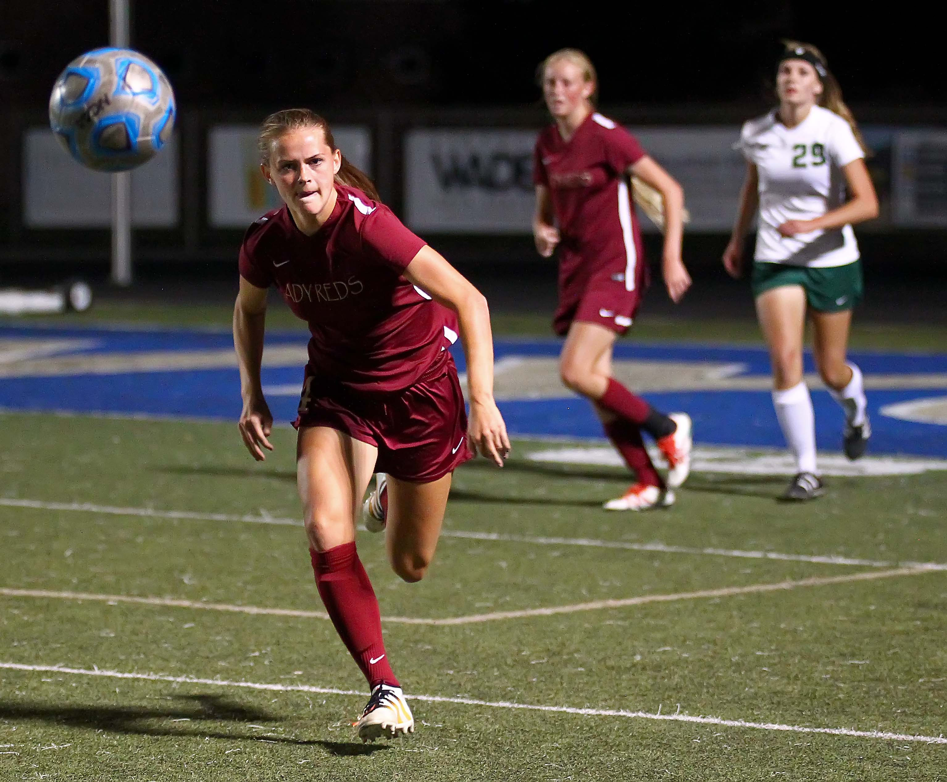 Cedar's Julia Hunt (4), had 10 goals this year for the Lady Reds. | Photo by Robert Hoppie, ASPpix.com, St. George News