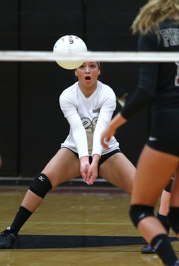 Pine View's Emily Lantor (29), Pine View vs. Kanab, Volleyball, St. George, Utah, Sept. 1, 2016, | Photo by Robert Hoppie, ASPpix.com, St. George News