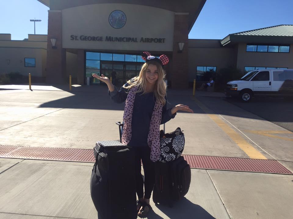 Aubree Christensen heads to Walt Disney World in Orlando, Florida, to begin her adventure as a Fairy Godmother-in-Training, St. George, Utah, Aug. 24, 2015 | Photo courtesy of Aubree Christensen, St. George News