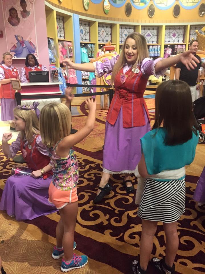 Fairy Godmother-in-Training Aubree Christensen meeting some of her princesses, Walt Disney World, Orlando, Florida, Nov. 24, 2015 | Photo courtesy of Aubree Christensen, St. George News