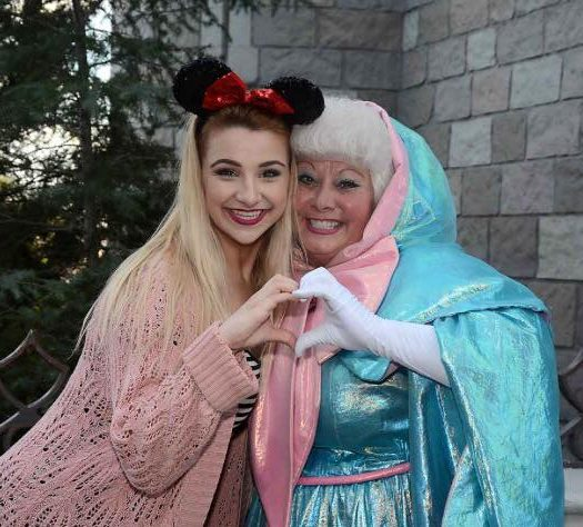 Fairy Godmother-in-Training Aubree Christensen with Cinderella's Fairy Godmother, Walt Disney World, Orlando, Florida, Dec. 8, 2015 | Photo courtesy of Aubree Christensen, St. George News