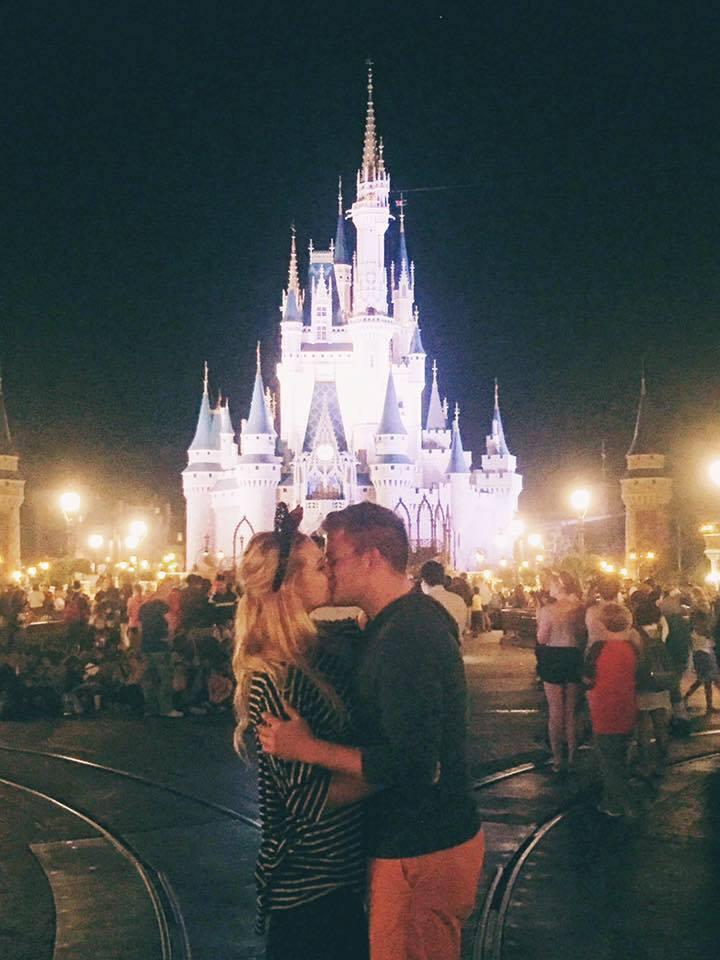 Aubree Christensen and her fiancé Jonathan Harper, Walt Disney World, Orlando, Florida, March 2016 | Photo courtesy of Aubree Christensen, St. George News