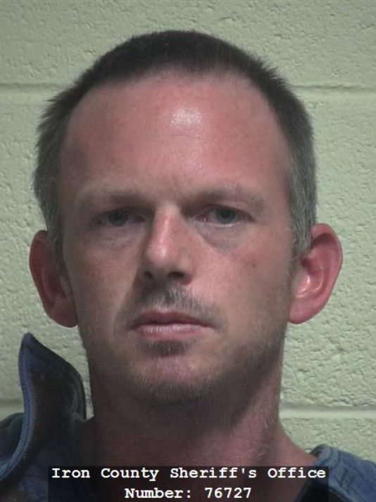 Brett Hunter plead guilty to attempted murder Tuesday for a 2015 arrest. Cedar City, Utah, Aug. 12, 2016 | Photo courtesy of Iron County Sheriff's Office, St. George / Cedar City News