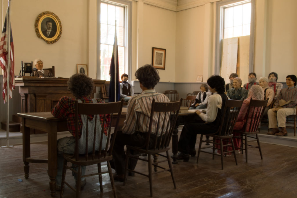 "Courtroom inside ""Million Dollar Courthouse,"" Pioche, Nevada, July 2016 