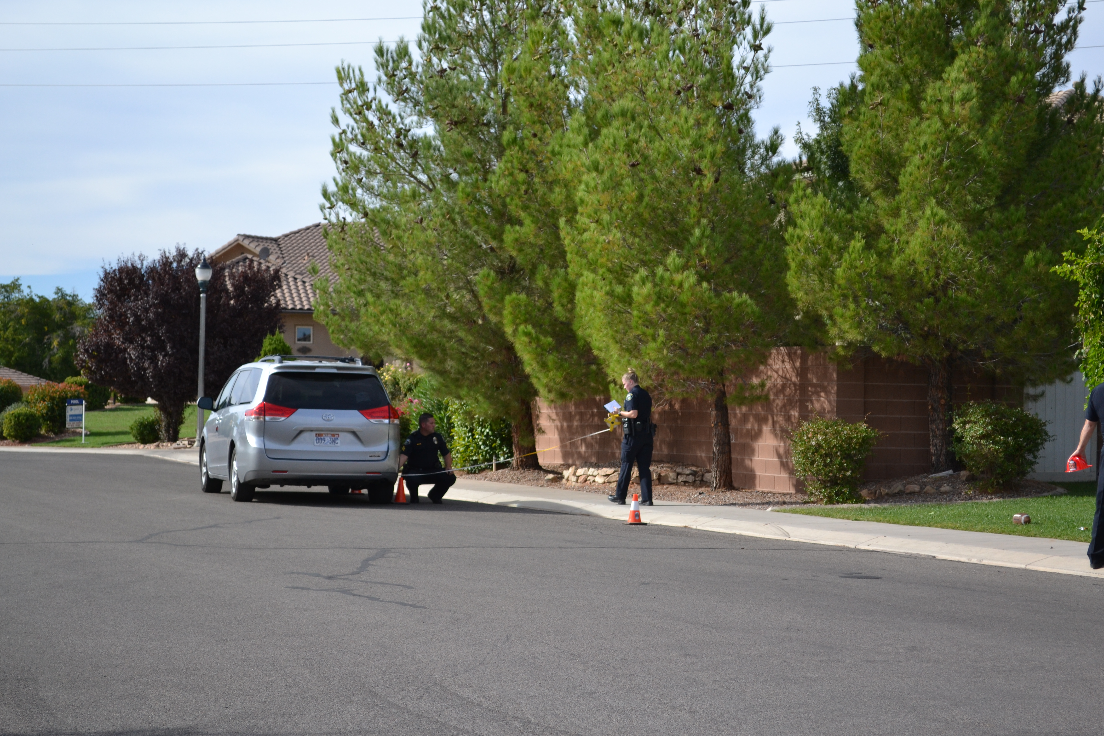 An 18-month-old child was struck by a vehicle in Santa Clara, Utah, Sept 19, 2016 | Photo by Joseph Witham, St. George News