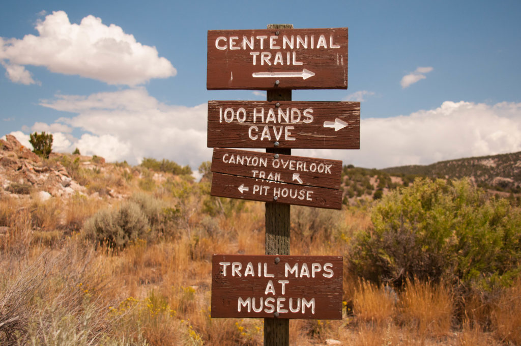 Directory of hiking trails, Fremont Indian State Park and Museum, August 2016 | Photo by Jim Lillywhite, St. George News