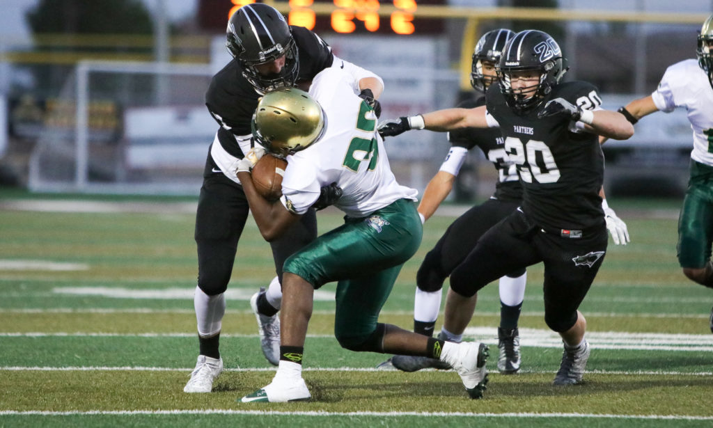 Snow Canyon's Jeremy Olson (30), Pine View vs. Snow Canyon, Football, St. George, Utah, Sept. 23, 2016, | Photo by Todd Ellis, St. George News