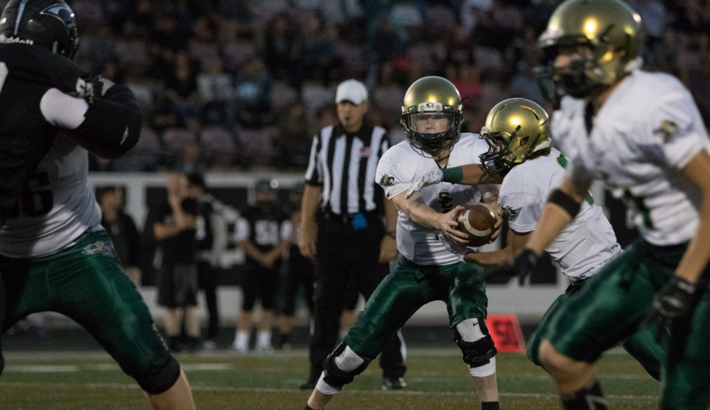 Snow Canyon's Matt Kitchen (1), Pine View vs. Snow Canyon, Football, St. George, Utah, Sept. 23, 2016, | Photo by Todd Ellis, St. George News