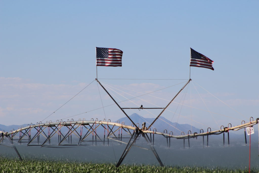 American flags Iron County farms