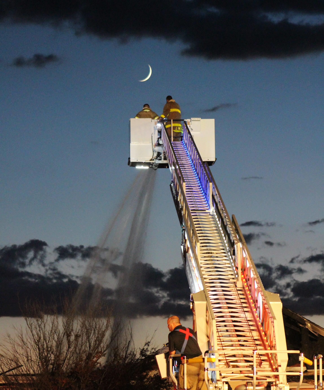 Cedar City Fire Department responds to a fire on Leigh Hill Saturday night in Cedar City, Utah, Sept. 3, 2016   Photo by Tracie Sullivan, St. George / Cedar City News
