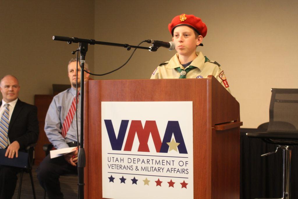Boy Scout at Patriot Day celebration - St. George News.com