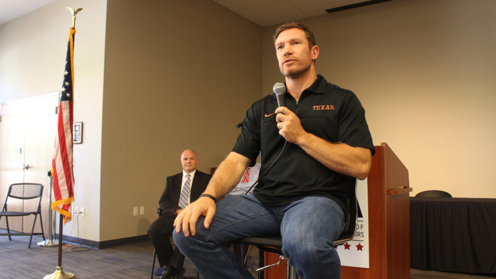 Nate Boyer Seattle Seahawk Green Beret Patriot Day - Southern Utah Veterans Home - StGeorgeNews.com