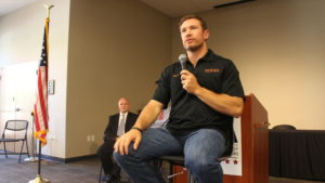 Former Green Beret and NFL Seattle Seahawks player, Nate Boyer, speaks at the Southern Utah Veterans Home annual Patriot Day community celebration at 160 N. 200 East, Ivins, Utah, Sept 9, 2016 | Photo by Joseph Witham, St. George News