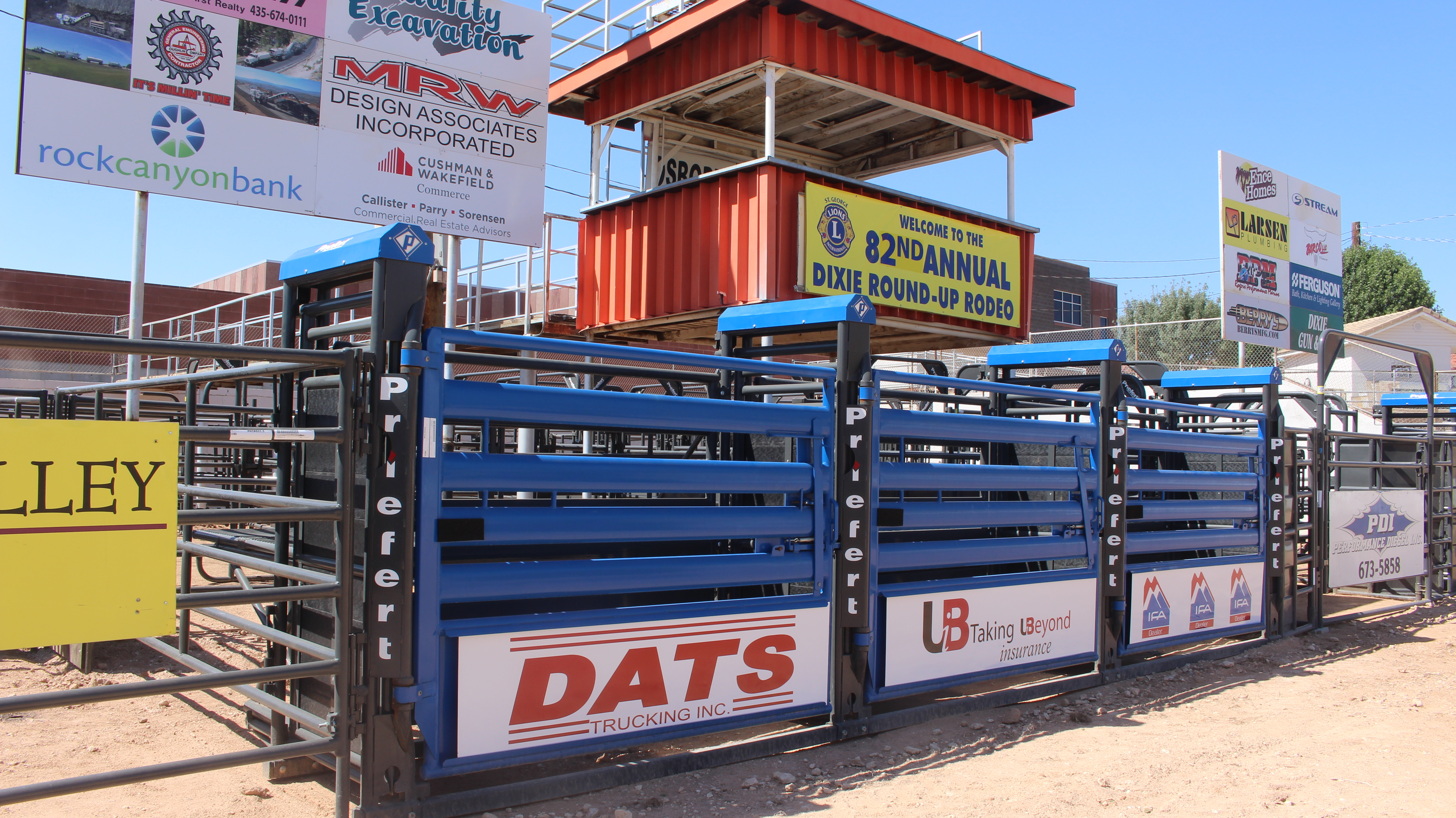 The historic Dixie Sunbowl received several upgrades ahead of the weekend's Dixie Roundup Rodeo including improvements to the chutes, St George, Utah, September 12, 2016   Photo by Joseph Witham, St George News.