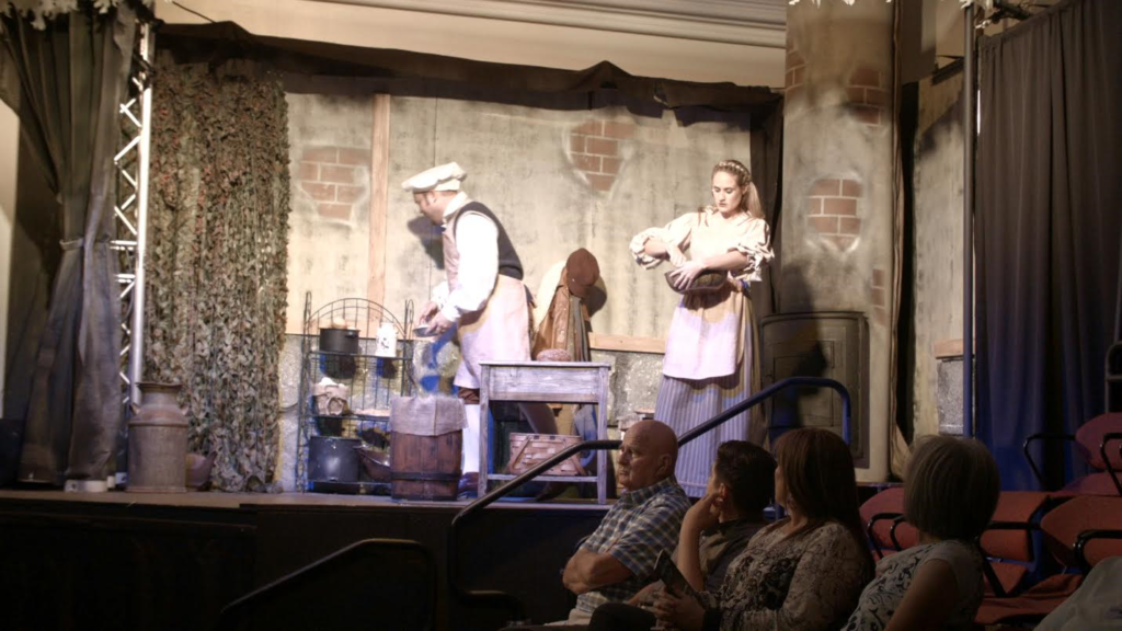 "Video screenshot: BJ Cox as the Baker and Rachel Cox as the Baker's Wife in St. George Musical Theater's production of ""Into the Woods,"" St. George, Utah, August, 2016 