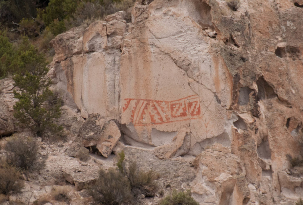 Indian Blanket pictograph, Fremont Indian State Park and Museum, August 2016   Photo by Jim Lillywhite, St. George News