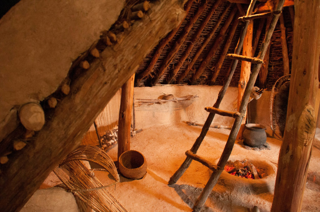 Interior of a pit house, Fremont Indian State Park and Museum, August 2016   Photo by Jim Lillywhite, St. George News