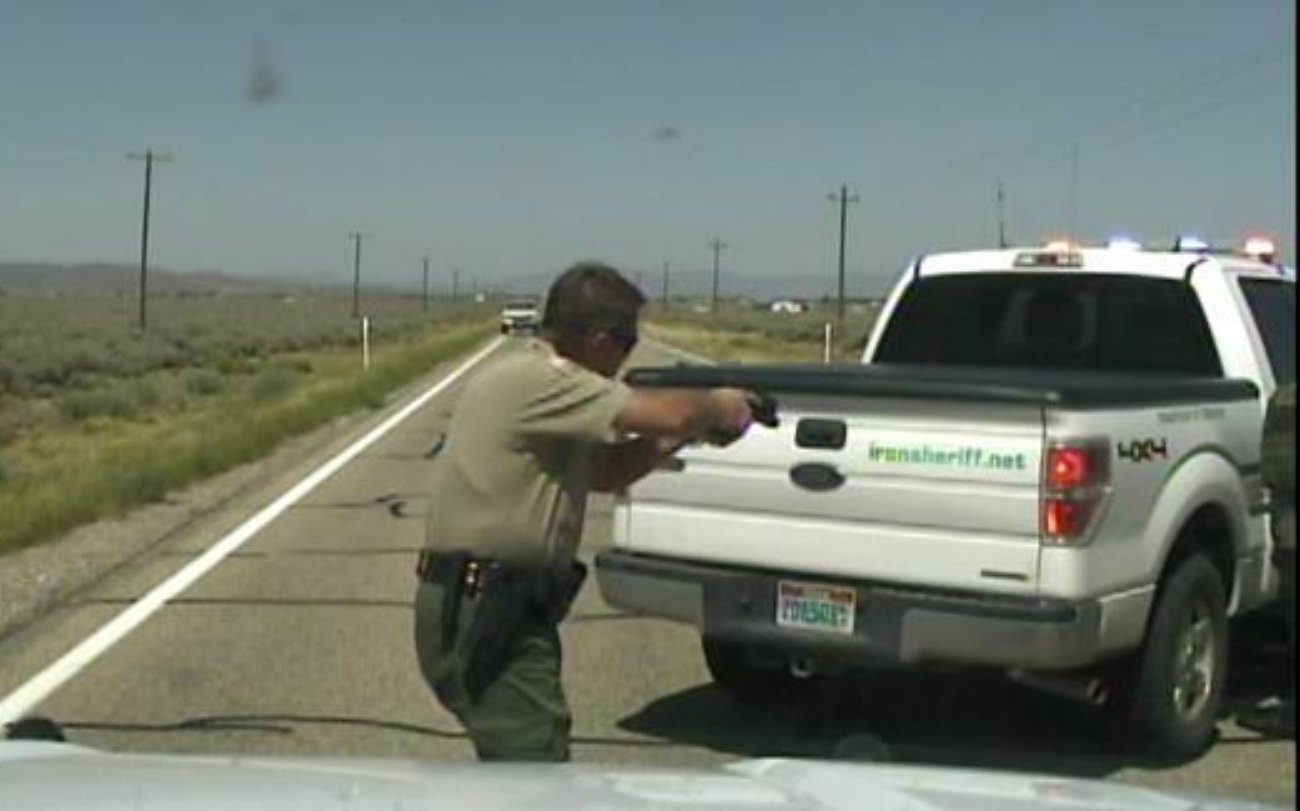 Iron County Sheriff's Deputy Jobe Peterson makes felony stop - St. George News