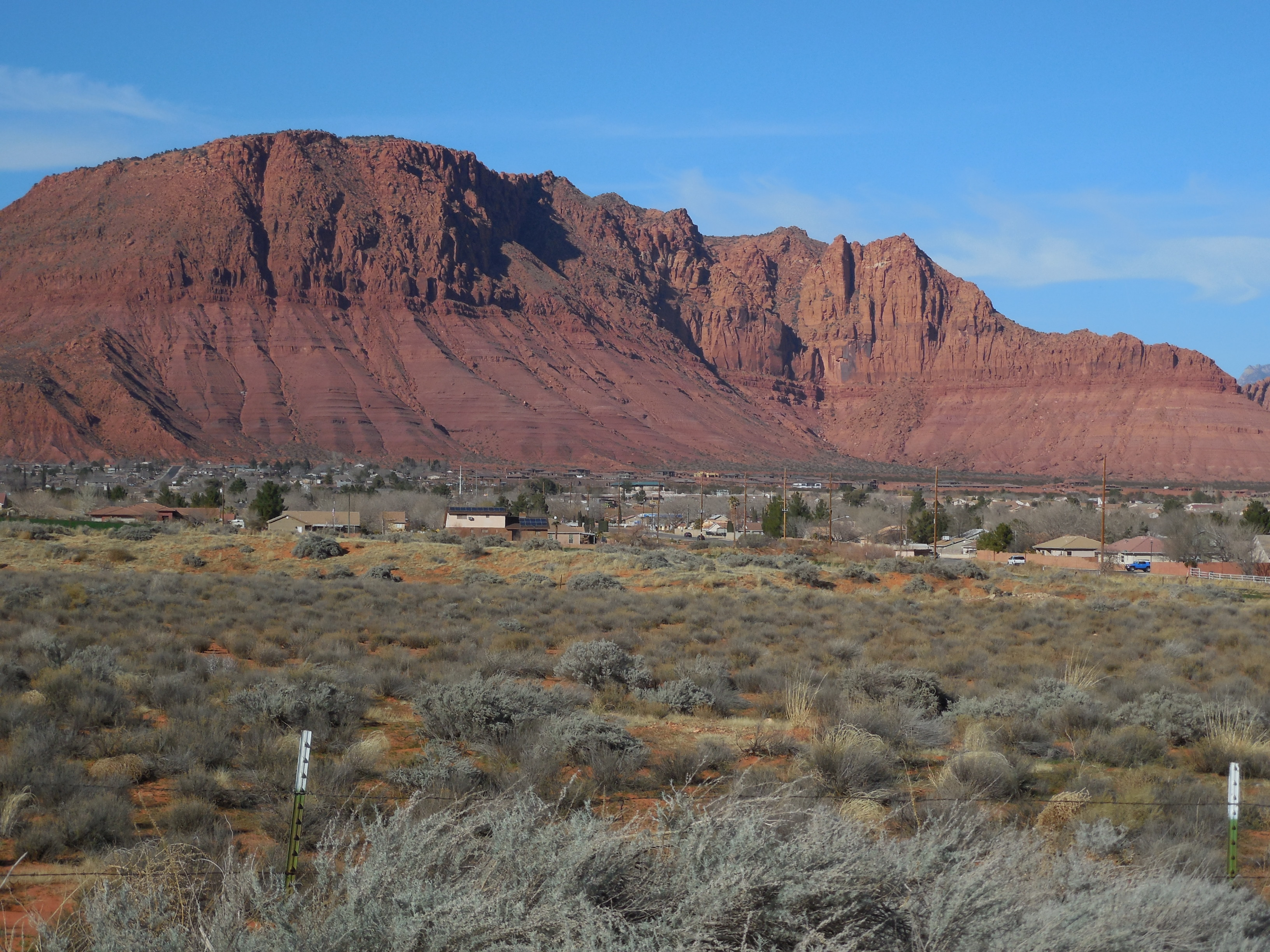 Ivins City nestles against the Red Mountain Wilderness Area, an example of federally managed land in Washington County, Ivins, Utah, Feb. 13, 2015 | Photo by Julie Applegate, St. George News