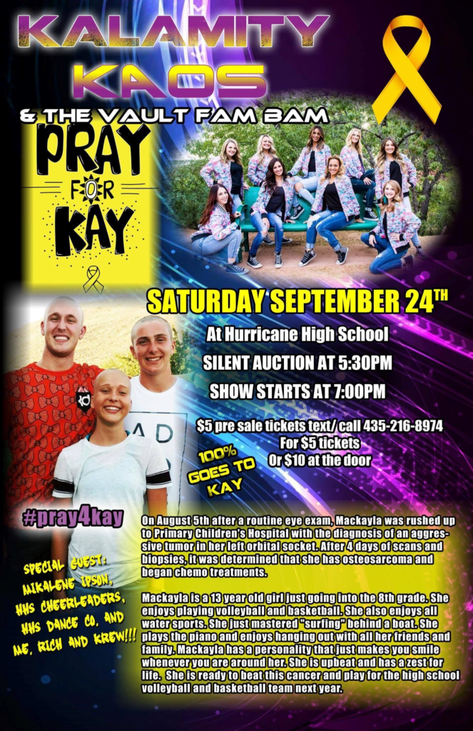 """Flyer for """"Pray for Kay"""" benefit concert, location and date not specified 