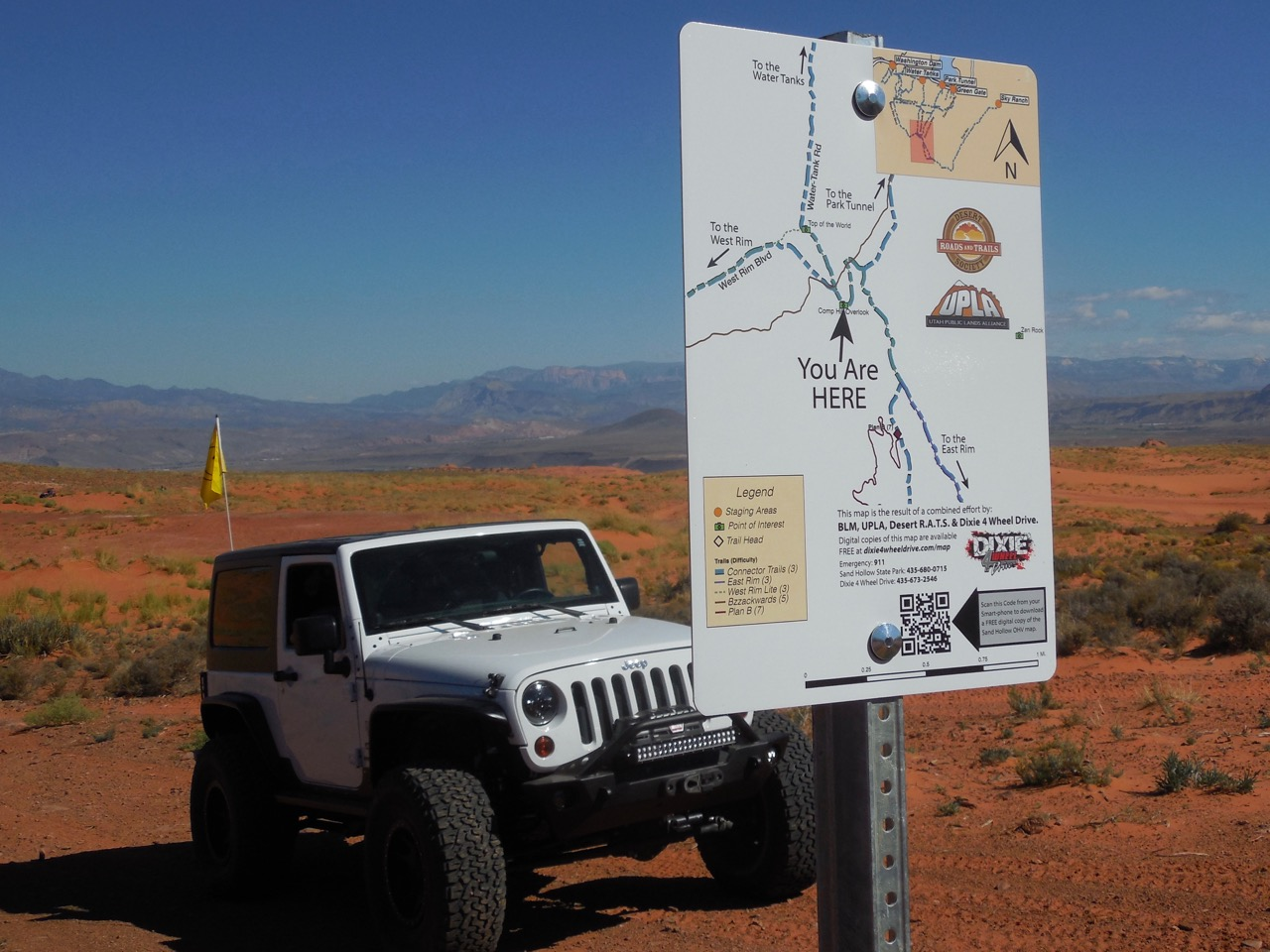 New signs and GPS mapping make Sand Mountain safer and easier to navigate, Hurricane, Utah, Sept. 24, 2016   Photo courtesy of Desert Roads and Trails Society – Desert RATS, St. George News