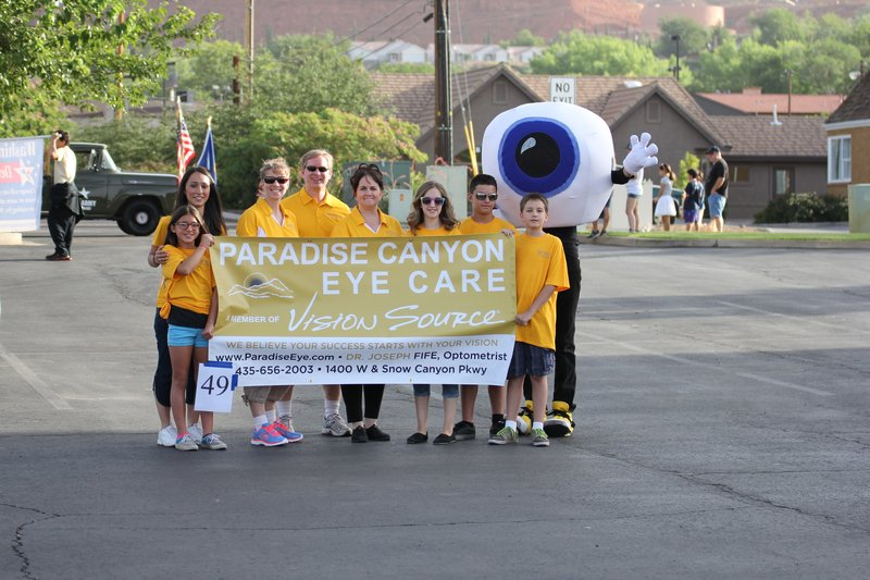 Paradise Canyone Eye Care participates in the St. George July 4th parade, St. George, Utah, undated | Image courtesy of Paradise Canyon Eye Care, St. George News