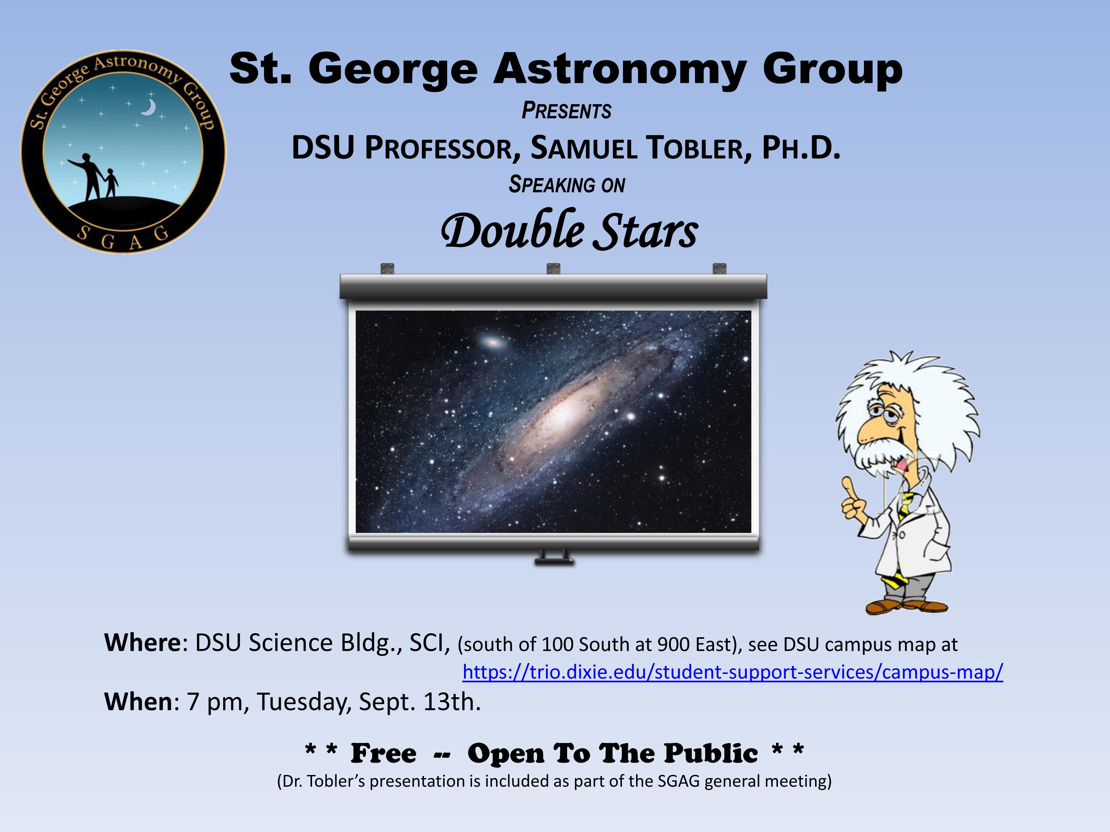 Slide 1 SGAG astronomy flyer