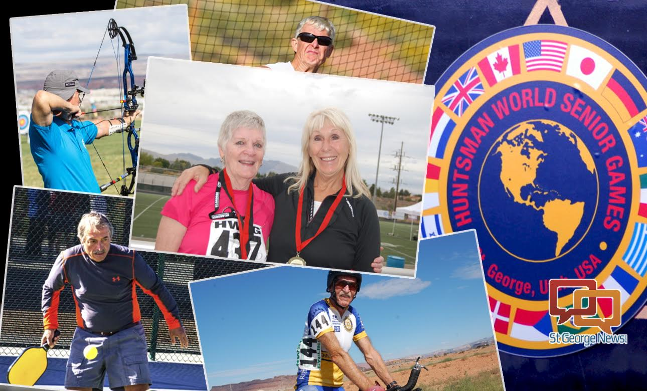 Composite image: photos from past Huntsman World Senior Games, St. George, Utah, date not specified | Photos by St. George News staff, St. George News